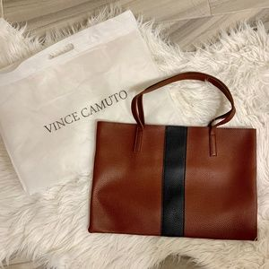 Vince Camuto Luck Tote in 'Red Desert'